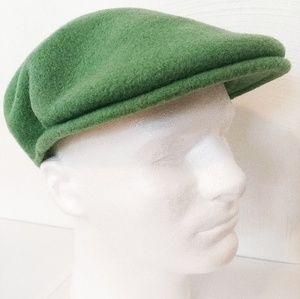 Kangol Mens Hat Green 100% Wool Size Small Newsboy